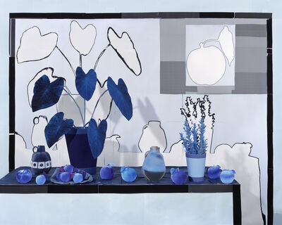Daniel Gordon, 'Apples and Apricots in Blue ', 2018