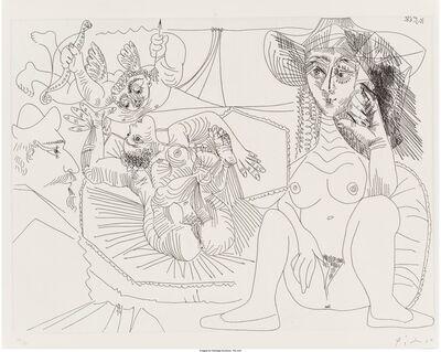 Pablo Picasso, 'Jeune femme péchant par pensée, from Séries 347', 1968