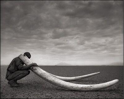 Nick Brandt, 'Ranger with Tusks of Killed Elephant, Amboseli', 2011