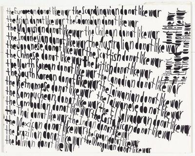 John Patrick Mckenzie, 'The Samoan do not like war [framed]', unknown