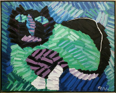 Karel Appel, 'THE GREEN CAT', 1978