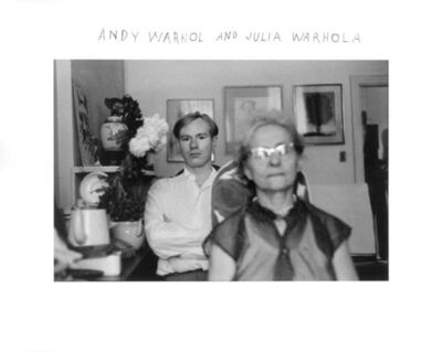 Duane Michals, 'Andy Warhol and his mother, Julia Warhola ', 1958