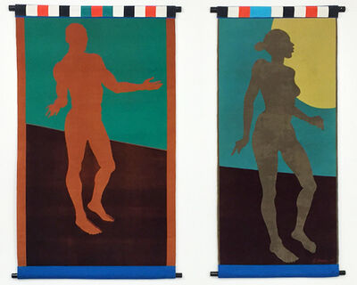 Emma Amos, 'Baby (diptych)', 2001