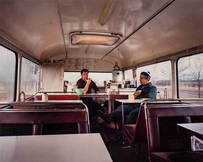 Paul Graham, 'Bus Converted to Café, Lay-by, West Yorkshire, November', 1982