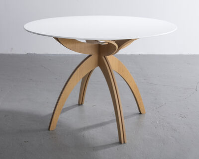 "Ali Tayar, '""Maryana's Table"" in bent plywood and lacquered MDF. Designed by Ali Tayar, 2007.', 2007"
