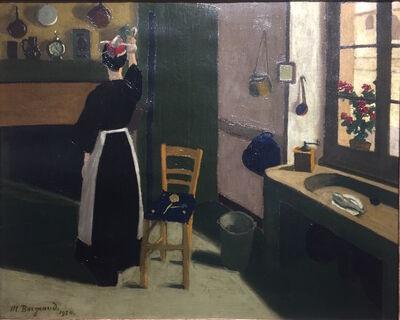 MARIUS BORGEAUD, 'Femme dans son intérieur', 1920