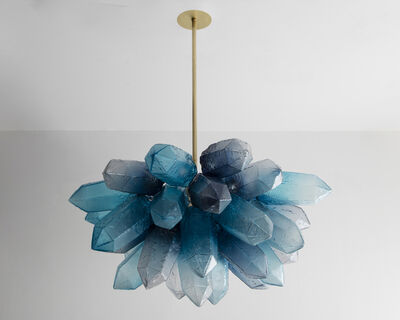 Jeff Zimmerman, 'Illuminated Crystal Cluster sculpture in hand-blown blue glass. Designed and made by Jeff Zimmerman, USA, 2016.', 2016