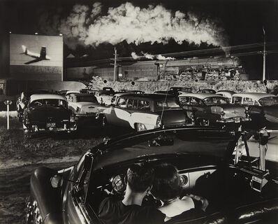 O. Winston Link, 'NW1103, Hot Shot Eastbound at the Iaeger Drive-in, West Virginia', 1956