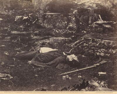 Alexander Gardner, 'A Sharpshooter's Last Sleep, Gettysburg, Pennsylvania, July 1863', 1863