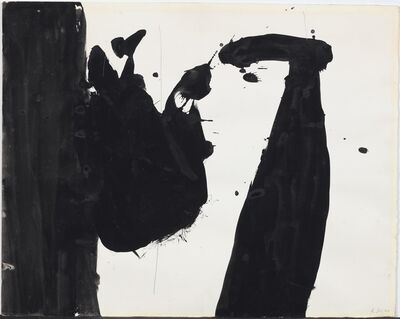 Robert Motherwell, 'In Black + White', 1960