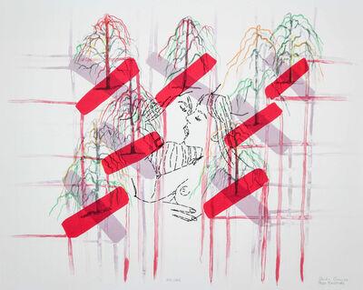 Ghada Amer & Reza Farkhondeh, 'Kiss Cross', 2006
