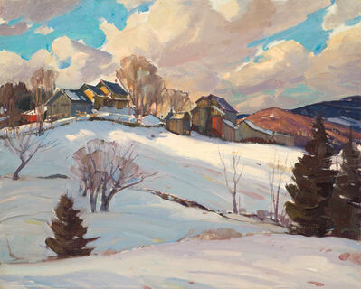 Aldro Thompson Hibbard, 'Winter Farm and Clouds, Vermont', 20th Century