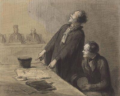 Honoré Daumier, 'Le défenseur (The Defense Attorney)'