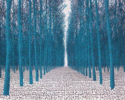 Tobia Rava, 'Foresta Alchemica Azzurra', 2018
