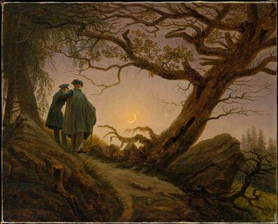 Caspar David Friedrich, 'Two Men Contemplating the Moon', ca. 1825–1830