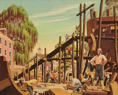 James R. Bingham, 'Shipbuilding in Philadelphia', 20th Century