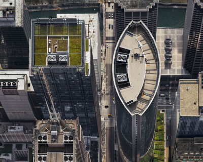 Brad Temkin, '111 S. Wacker (from above, looking west), Chicago, IL, July', 2013
