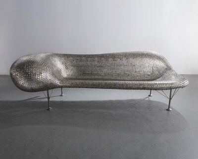 Johnny Swing, 'Nickel Couch in welded nickels and stainless steel', 2006