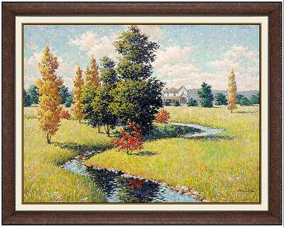 Arthur Sarnoff, 'Arthur Sarnoff Original Oil Painting On Canvas Signed Landscape Illustration Art', 20th Century