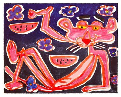 Katherine Bernhardt, 'African Violet', 2019