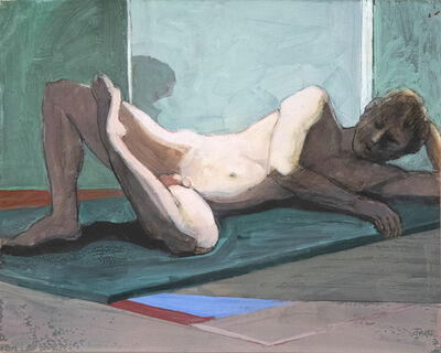 William Theophilus Brown, 'Untitled (Reclining Nude on Green Mat)', 1995