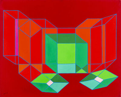 Achille Perilli, 'Irreversibler Prozesse', 1987