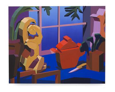 Jonathan Chapline, 'Crockpot, Knife and Sculpture on Table', 2019