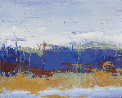 Jerry Teters, 'Blue & Rust', 2017