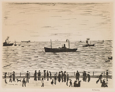 Laurence Stephen Lowry, 'Seaside Promenade', 1967-1968