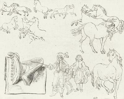Eugène Delacroix, 'Études de Chevaux et Cavaliers'