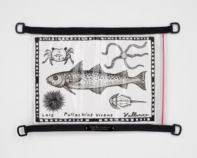 "Jeffrey Vallance, '""Draw Sea Creatures."" Spirit of Jackson Pollock', 2015"