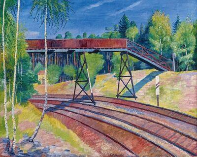 Conrad Felixmuller, 'Eisenbahnübergang in der Heide (Klotzsche)', 1929
