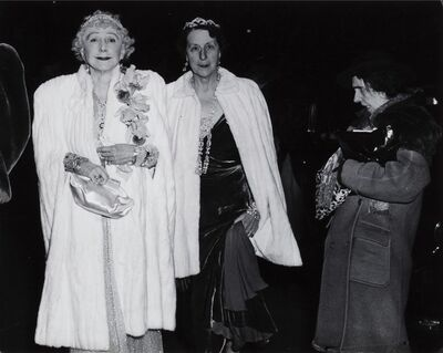 Weegee, 'The Critic (Mrs Cavanaugh and Friend About to enter the Metropolitan Opera House)', 1943
