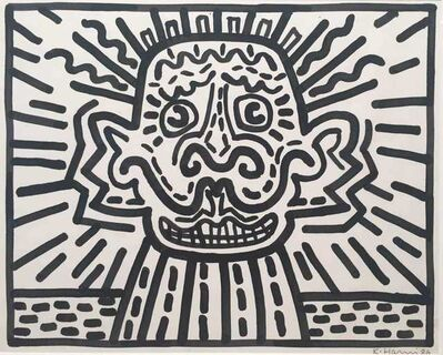 Keith Haring, 'Untitled, Sumi ink on paper', 1986