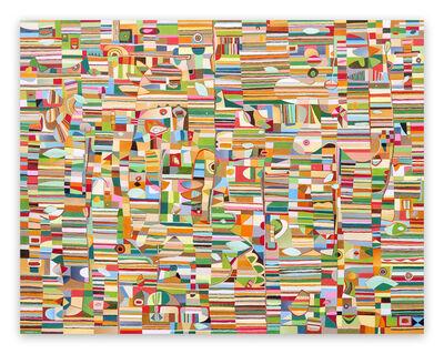 Jeremie Iordanoff, 'Les yeux fermés (Abstract painting)', 2021