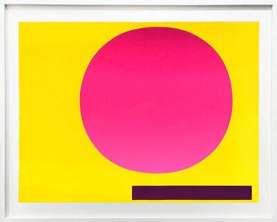 Rupprecht Geiger, 'Metapher Zahl Zwei', 1985-89