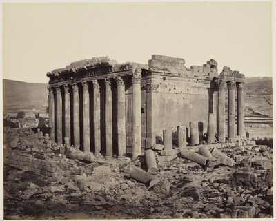 Francis Bedford, 'The Temple of Jupiter from the north west [Baalbek, Lebanon]', 3 May 1862