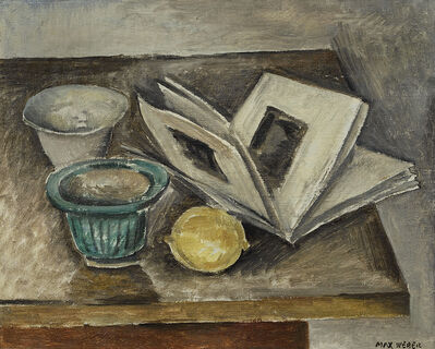 Max Weber, 'Still Life (The Pamphlet)', ca. 1914