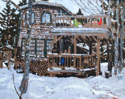 Glenn Hall, 'My Cabin Winter Snow', 2018
