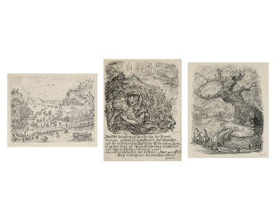 Alfred Kubin, 'A group of three prints'