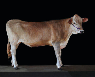 Patricia Traub, 'Brown Swiss Cow with Violet Halter', 2021