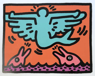 Keith Haring, 'Pop Shop V Plate 3', 1989