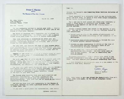Mark Flood, 'Marzio Letter', 1992