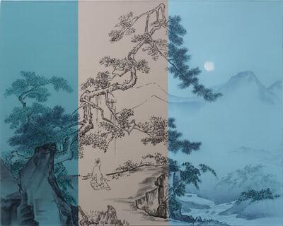 He Sen, 'Look at moon under the pine', 2018