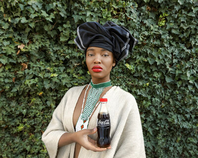 Tony Gum, 'Black Coca-Cola Series - Xhosa woman', 2015