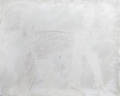 Peter Mayer, 'Dog (White on Silver) (12)', circa 1990