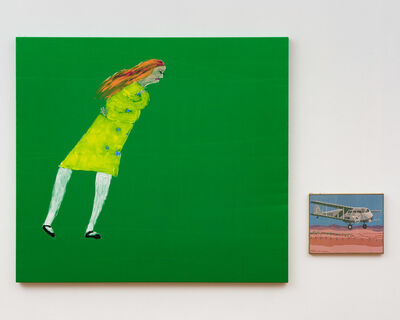 Jenny Watson, 'Green with envy and it's windy', 2020