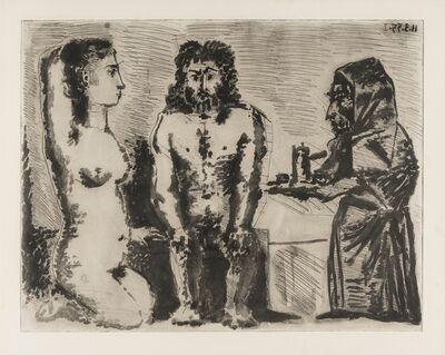 Pablo Picasso, 'Maison close: Le Chocolat. II (Baer 922i/iii)', 1955