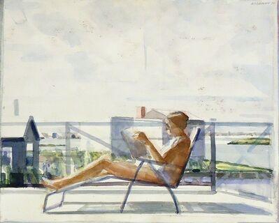 Sidney Goodman, 'Woman in a Deck Chair', 1970