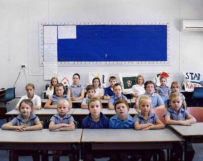 Amy Stein and Stacy Arezou Mehrfar, 'Schoolchildren, Weethalle', 2010